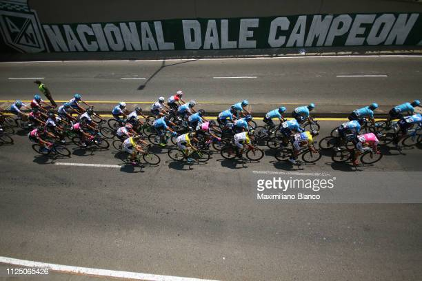 Bob Jungels of Luxembourg and DeceuninckQuickstep Team / Mihkel Räim of Estonia and Team Israel Cycling Academy / Hernando Bohórquez of Colombia and...