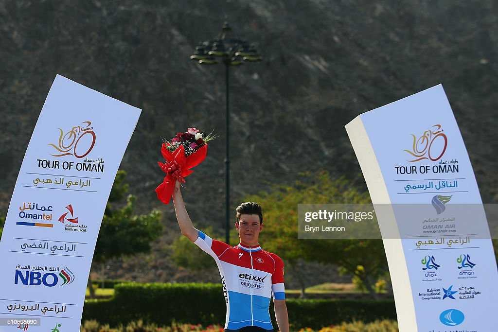 Bob Jungels of Luxembourg and Etixx- Quick Step won stage one of the 2016 Tour of Oman, a 145km road stage from Oman Exhibition Centre to Al Bustan on February 16, 2016 in Al Bustan, Oman.