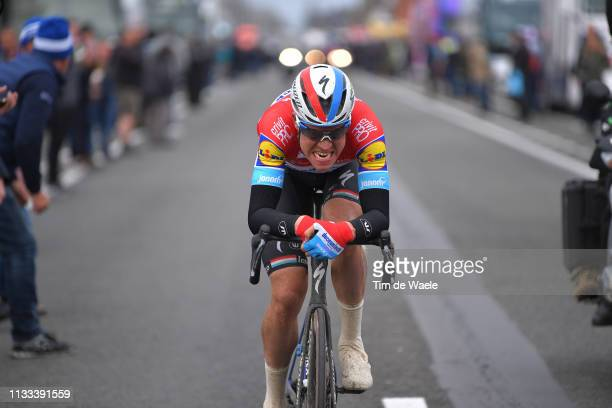 Bob Jungels of Luxembourg and Team Deceuninck-QuickStep / during the 71st Kuurne-Brussel-Kuurne 2019 a 201,1km race from Kuurne to Kuurne /...