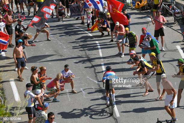 Bob Jungels of Luxembourg and Team Quick-Step Floors / Alpe d'Huez / Fans / Public / during the 105th Tour de France 2018, Stage 12 a 175,5km stage...