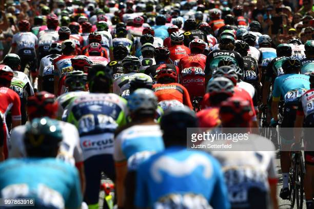 Bob Jungels of Luxembourg and Team Quick-Step Floors / Anthony Turgis of France and Team Cofidis / Peloton / Landscape / during the 105th Tour de...