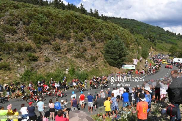 Bob Jungels of Luxembourg and Team Quick-Step Floors / Col De La Croix De Berthel / Peloton / Landscape / Fans / Public / during the 105th Tour de...