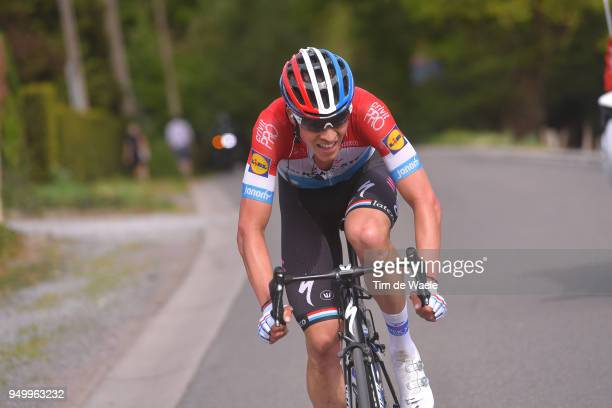 Bob Jungels of Luxembourg and Team Quick-Step Floors / during the104th Liege-Bastogne-Liege 2018 a 258,5km race from Liege to Liege-Ans on April 22,...