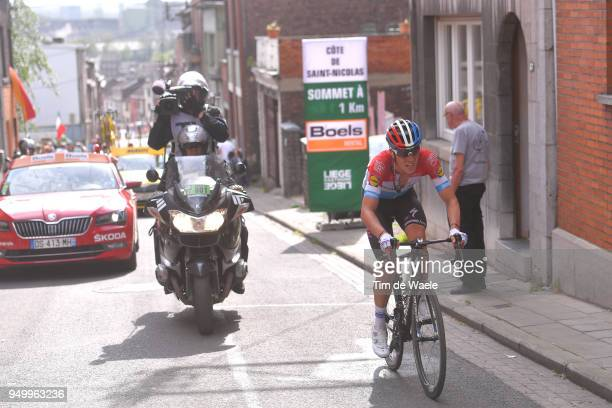 Bob Jungels of Luxembourg and Team QuickStep Floors / during the104th LiegeBastogneLiege 2018 a 2585km race from Liege to LiegeAns on April 22 2018...