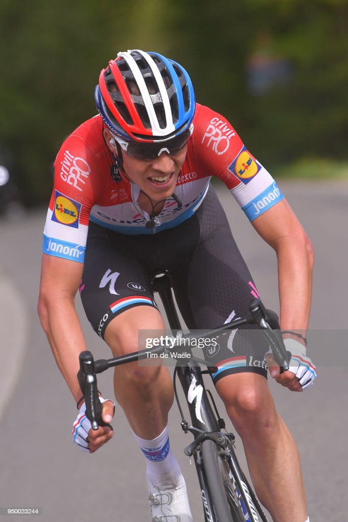 Bob Jungels of Luxembourg and Team Quick-Step Floors / during the104th Liege-Bastogne-Liege 2018 a 258,5km race from Liege to Liege-Ans on April 22, 2018 in Liege, Belgium.