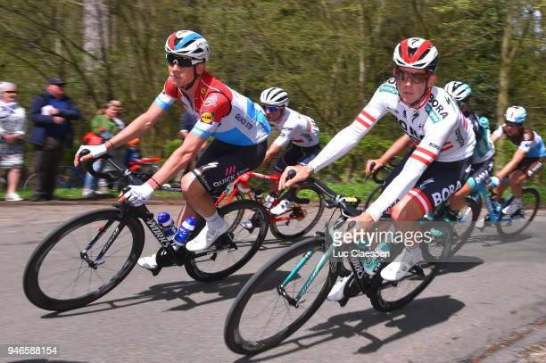 Bob Jungels of Luxembourg and Team Quick-Step Floors / Gregor Muhlberger of Austria and Team Bora-Hansgrohe / during the 53rd Amstel Gold Race 2018 a...
