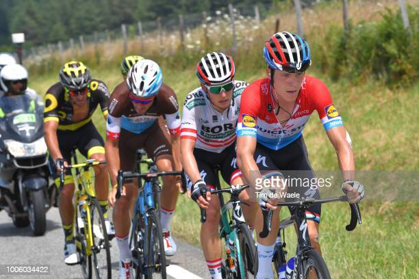 Bob Jungels of Luxembourg and Team Quick-Step Floors / Lukas Postlberger of Austria and Team Bora Hansgrohe / Silvan Dillier of Switzerland and Team...