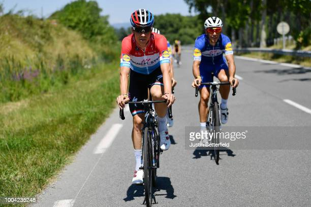Bob Jungels of Luxembourg and Team Quick-Step Floors / Philippe Gilbert of Belgium and Team Quick-Step Floors / during the 105th Tour de France 2018...