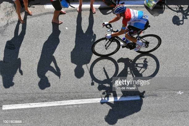 Bob Jungels of Luxembourg and Team Quick-Step Floors / Shadow / Alpe d'Huez / Fans / Public / during the 105th Tour de France 2018, Stage 12 a...