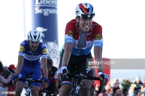 Bob Jungels of QuickStep Floors during the 2nd stage of the cycling Tour of Algarve between Sagres and Alto do Foia on February 15 2018