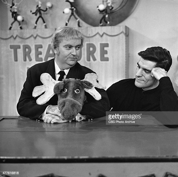 Bob Keeshan as Captain Kangaroo left and Cosmo Allegretti master puppeteer for the CAPTAIN KANGAROO show with his creation Mister Moose Image dated...
