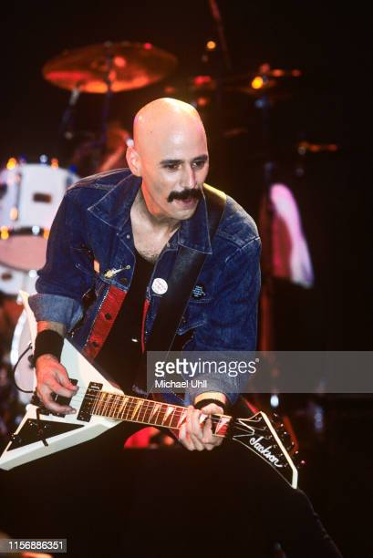 Bob Kulick performing at The Ritz in New York City on March 11 1989 He is playing a Jackson Rhoads guitar