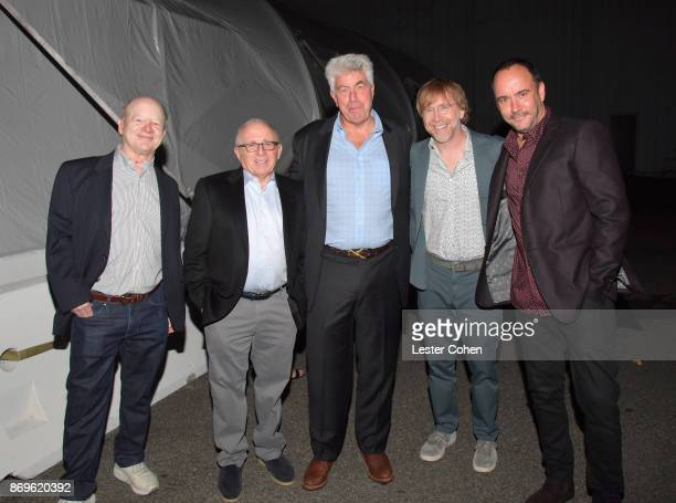 Bob Lefsetz Chairman and CEO of Azoff MSG Entertainment Irving Azoff Honoree Coran Capshaw musicians Trey Anastasio and Dave Matthews at MFEI Spirit...
