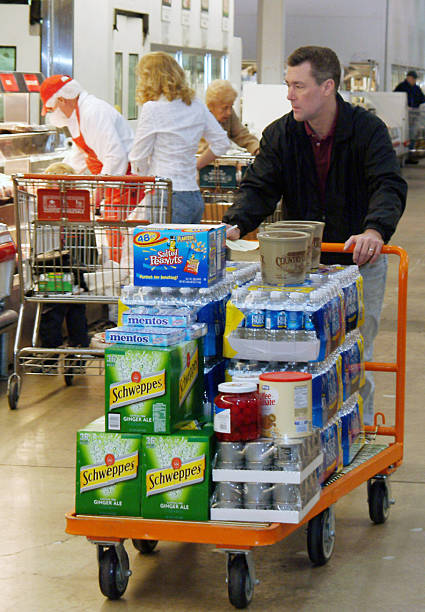 bob littlewood shops at a costco wholesale store for the kin