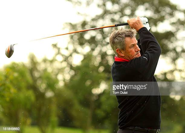 Bob Longworth in action during the PGA Super 60's Tournament at the De Vere Belton Woods Golf Club on September 12 2012 in Grantham England