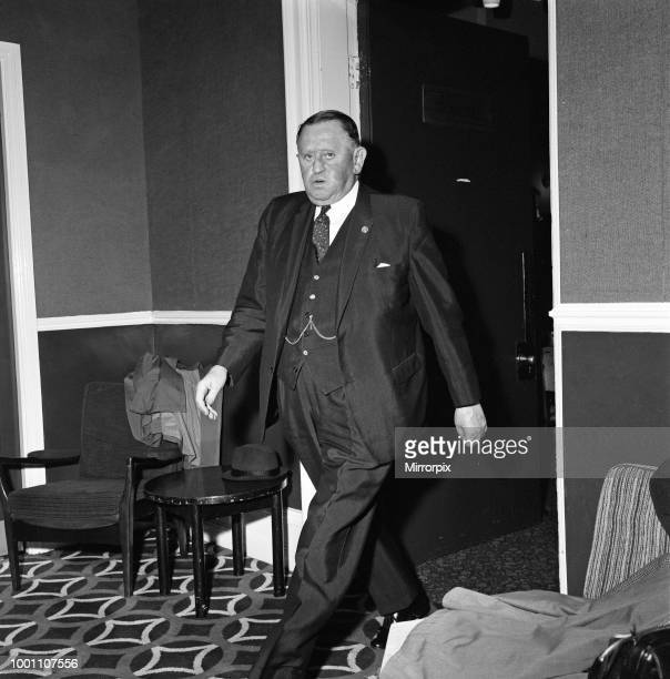 Bob Lord Burnley Football Club Chairman at Turf Moor ahead of a Good Friday Church pageant which is happening at the ground 31st March 1971