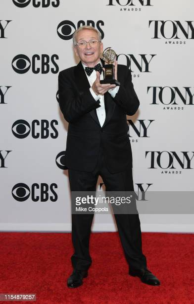 """Bob Mackie winner of the award for Best Costume Design of a Musical for """"The Cher Show"""" poses in the press room during the 2019 Tony Awards at Radio..."""