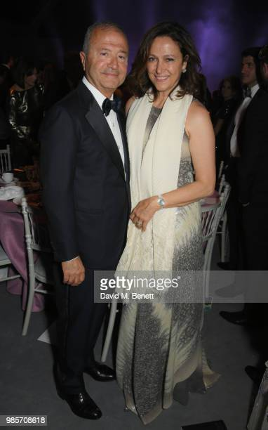 Bob Manoukian and Tamar Manoukian attend the Argento Ball for the Elton John AIDS Foundation in association with BVLGARI Bob and Tamar Manoukian on...