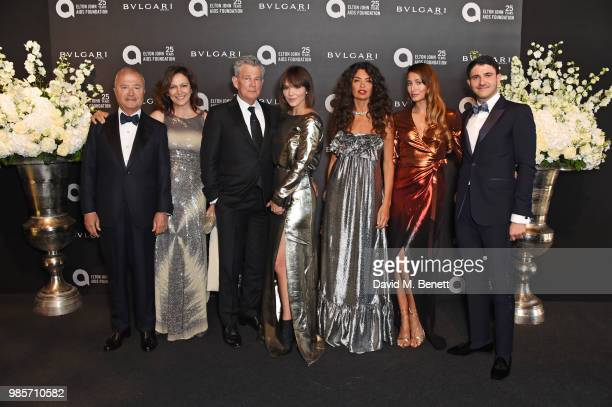 Bob Manoukian Tamar Manoukian David Foster Katharine McPhee Afef Jnifen Siran Manoukian and Aram Manoukian attend the Argento Ball for the Elton John...