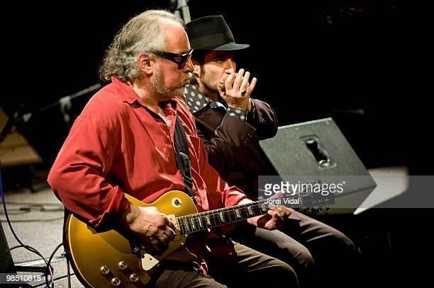 Bob Margolin and Tota perform on stage at Nova Jazz Cava on April 16 2010 in Terrassa Spain