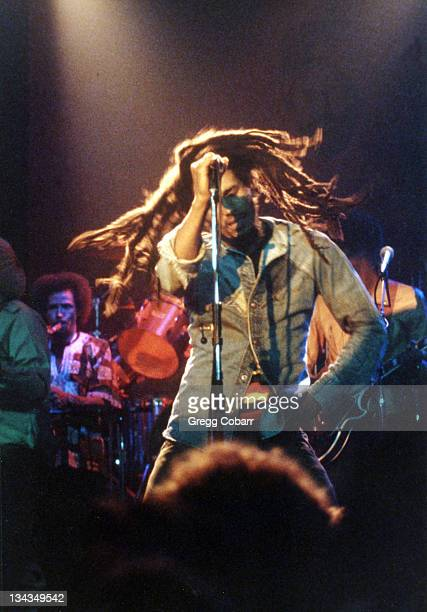 Bob Marley during Bob Marley Benefit Concert for the Sugar Ray Robinson Youth Foundation 1979 at The Roxy Theatre in West Hollywood California United...