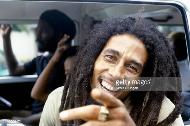 Bob Marley in Montego Bay, Jamaica, in 1979, prior to his appearance at the Reggae Sunsplash festival.