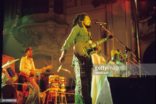 Bob Marley Musician Singer Reggae Jamaica performing with his Band the Wailers in Hamburg Germany 091976