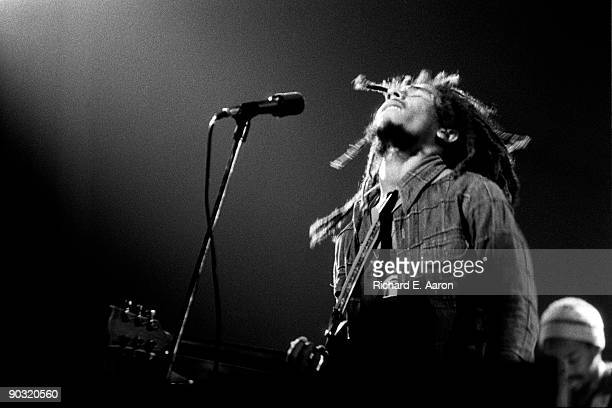 Bob Marley performs live on stage at the New York Academy of Music in Brooklyn New York on MAY 01 1976