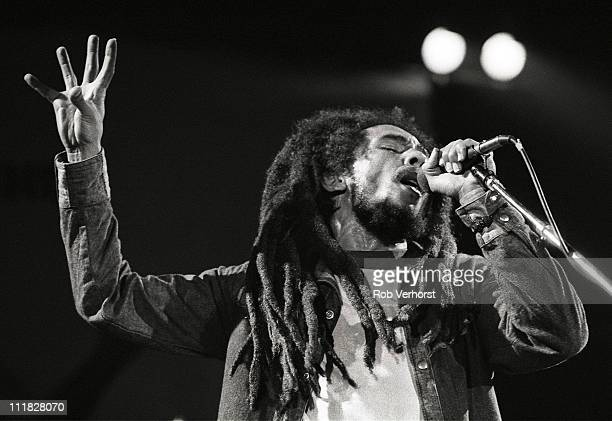 Bob Marley performs on stage Ahoy Rotterdam Netherlands 23rd June 1980