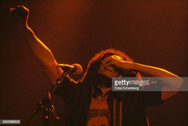 Bob Marley performs on stage Hammersmith Odeon London United Kingdom June 1976