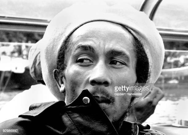Bob Marley posed in Amsterdam Netherlands in 1976