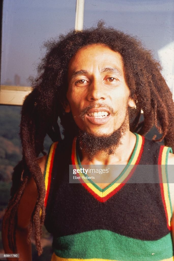 Photo of Bob MARLEY; Posed portrait of Bob Marley