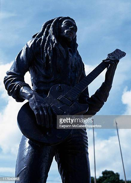 Bob Marley statue outside The Bob Marley museum in Kingston Jamaica 2010