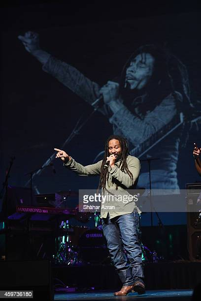 Bob Marley's son KyMani Marley performs at the The Apollo Theater on November 29 2014 in New York City