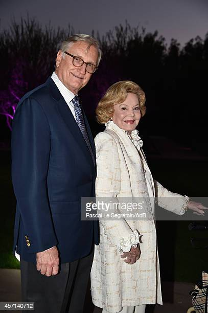 Bob Marx and Barbara Sinatra arrive to attend 'Prince Albert II of Monaco's Foundation' Award Ceremony on October 12, 2014 in Palm Springs,...