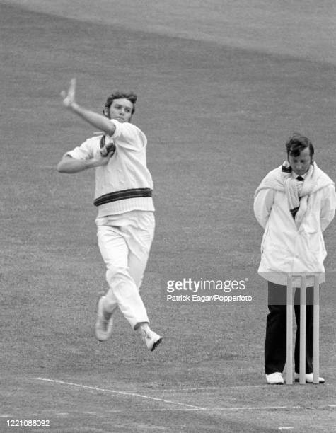 Bob Massie bowling for Australia during the 2nd Test match between England and Australia at Lord's Cricket Ground, London, 23rd June 1972. The umpire...