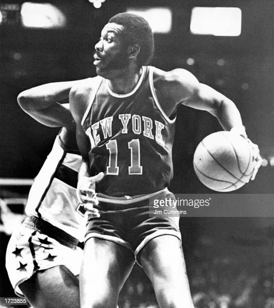 Bob McAdoo of the New York Knicks looks to make a play during the 1970 NBA game against the Washington Bullets in Washington DC NOTE TO USER User...
