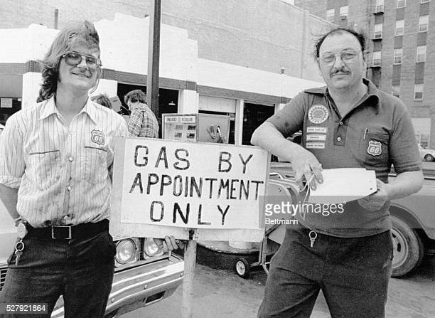Bob McCreary a service station operator in Des Moines and his assistant manager Wayne Hall will be happy to sell motorists gasoline but customers...
