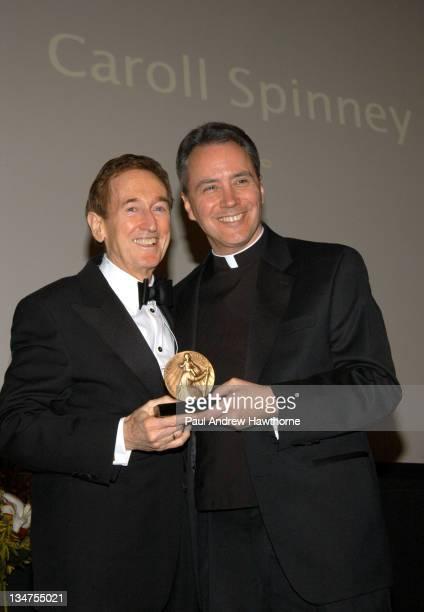 Bob McGrath of 'Sesame Street' accepts the James Keller Award for Caroll Spinney from Rev Msgr James P Lisante
