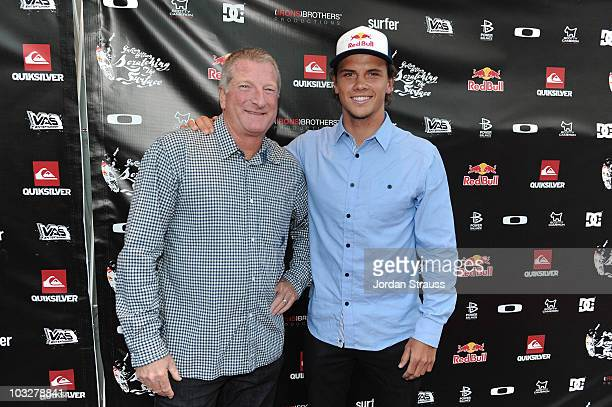 Bob McKnight and Julian Wilson attend Julian Wilson Scratching The Surface Movie Premiere at Orange County Performing Arts Center on August 6 2010 in...