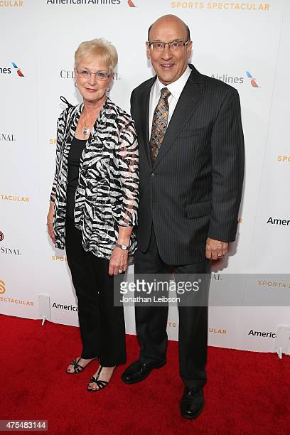 Bob Miller and Judy Miller arrive on the red carpet at the 2015 CedarsSinai Sports Spectacular at the Hyatt Regency Century Plaza on May 31 2015 in...