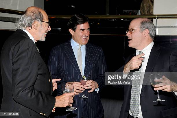 Bob Mnuchin Peter Brant and John Hayes attend PETER BRANT and STEPHANIE SEYMOUR toast FABIEN BARON GLENN O'BRIEN ALAN KATZ ELIZABETH POCHODA and...