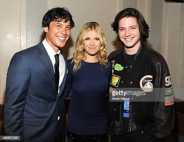 Bob Morley Eliza Taylor and Tommy McDonell attend The CW Network's 2014 Upfront at New York City Center on May 15 2014 in New York City