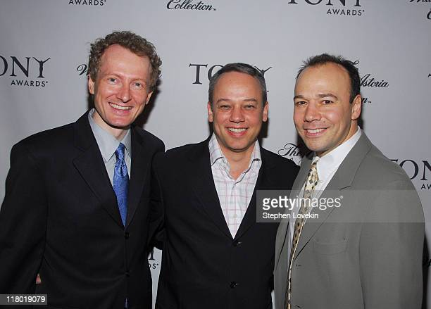 Bob Morton Ray Miller and Danny Burstein during 60th Annual Tony Awards Cocktail Celebration at The Waldorf Astoria in New York City New York United...