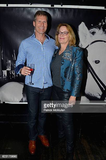 Bob Mossul and Andrea Renault attend the Party to Celebrate DOC NYC Premiere 'The Incomparable Rose Hartman' at Omar's on November 13 2016 in New...