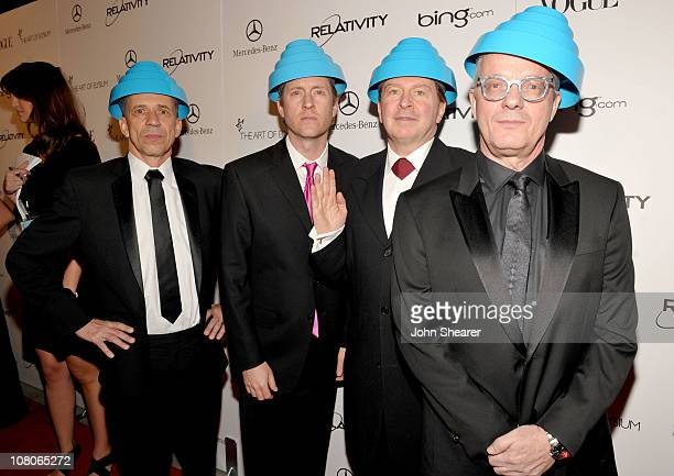 Bob Mothersbaugh Josh Freese Gerald Casale and Mark Allen Mothersbaugh of Devo arrive at the 2011 Art Of Elysium Heaven Gala held at the California...
