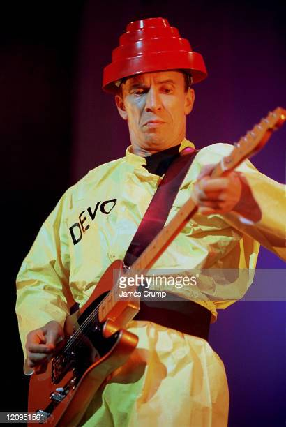 Bob Mothersbaugh of Devo during Devo In Concert At Tinley Park 1997 at The World Theater in Tinley Park Illinois United States