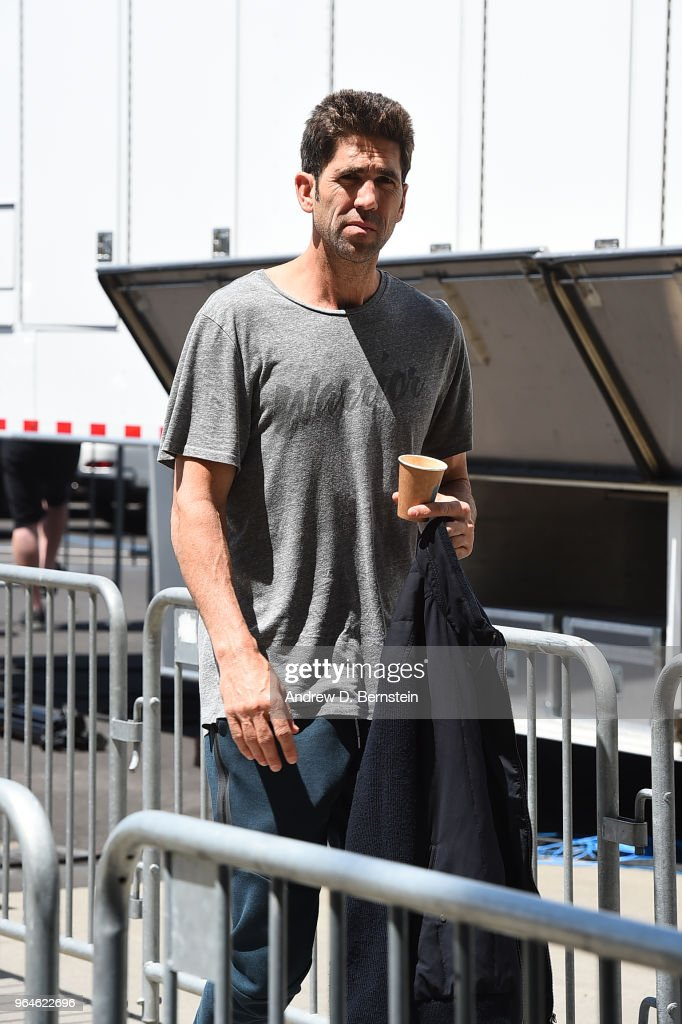Bob Myers of the Golden State Warriors arrives to the arena ahead of Game One of the 2018 NBA Finals against the Cleveland Cavaliers on May 31, 2018 at ORACLE Arena in Oakland, California.