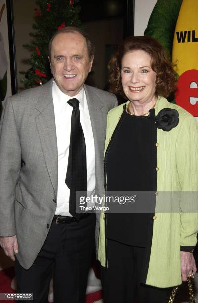 Bob Newhart and wife Ginnie during 'Elf' New York City Premiere at Loews Astor Plaza in New York City New York United States