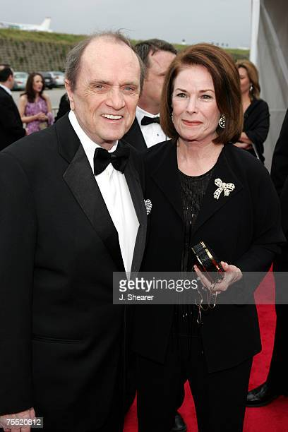Bob Newhart and wife Virginia at the Barker Hangar in Santa Monica California